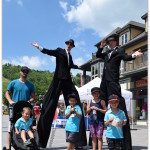 Stilt-men Free Entertainment Blue Mountain Resort Ontario Big Family Travels