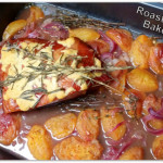 Roasted Peach baked Ham with Circulon Prime Double Roaster