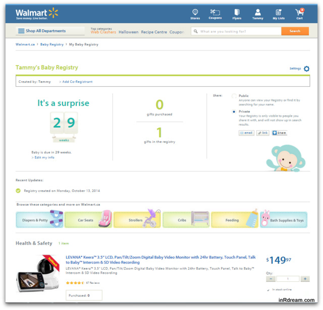 Build Your Baby Registry From Home On Walmart Ca