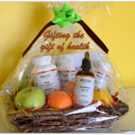 Gifting the gift of health, Orange naturals Gift of Health Christmas gift basket, Orange Naturals Mom