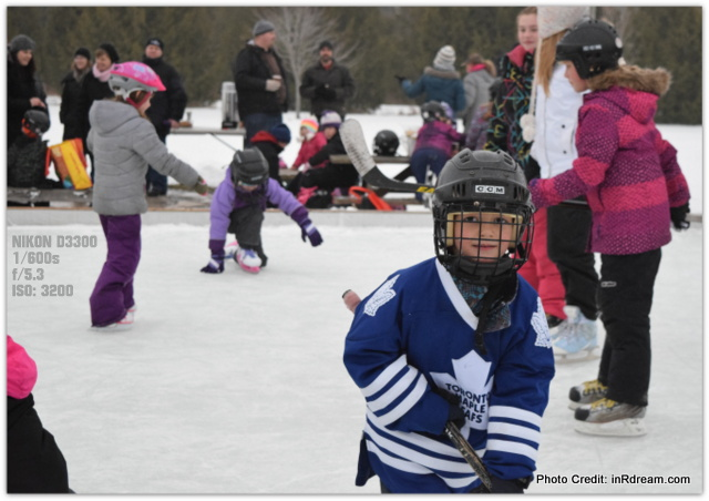 Canadian Backyard Ice Rink Party: Nikon MOM Captures Memories #NikonMOMents