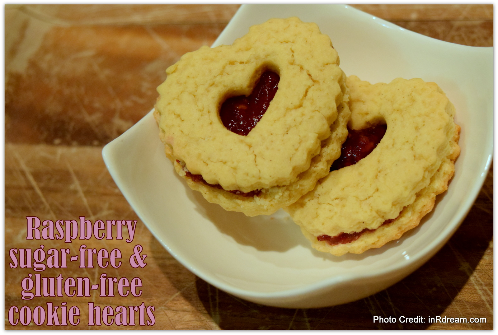 Raspberry Sugar-Free Cookie Hearts Recipe