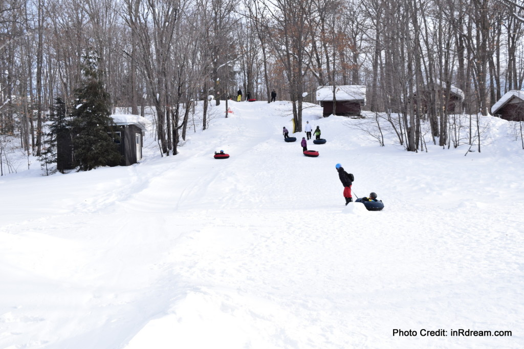 Family Day weekend 2015 Ontario Pioneer Camp. Tubing Hill