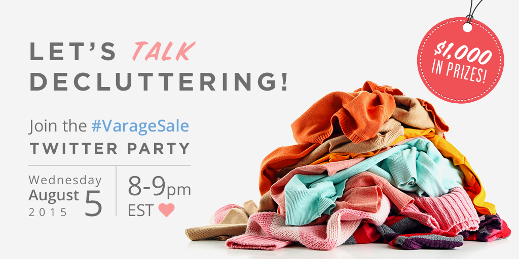 Let's Talk Decluttering: #VarageSale Twitter Party This Week!