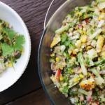 Grilled Corn, Nectarine & Quinoa Salad, eggfree potluck, vegetarian potluck dish, Vegan lunch, Vegan dinner, Vegan
