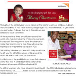 Teacher Christmas Gift Idea from the World Vision Gift Catalogue