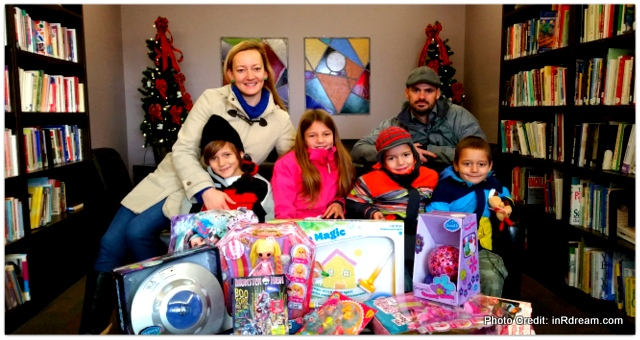 Donating to Kawartha Lakes Charities with our Kindness Mountain