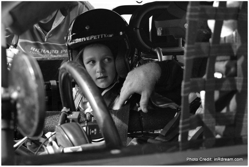Kids doing the Richard Petty Driving Experience at Daytona Beach 2015