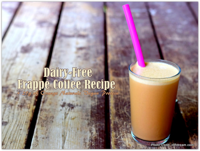 Dairy-Free Frappé Coffee Recipe + 27g of Vegan Protein