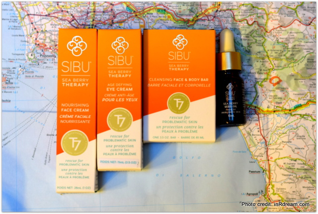 Sibu skincare, Sibu for travel, Skincare for problem skin, Packing for Italy, Sea Berry (sea buckthorn) is a natural product ,traditional use skin care,
